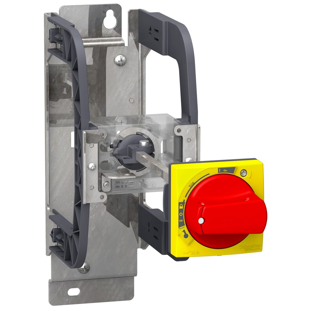 Mayer-Mounting bracket kit with extended rotary handle, TeSys U, IP54, red handle, with trip indication, for LUB-1