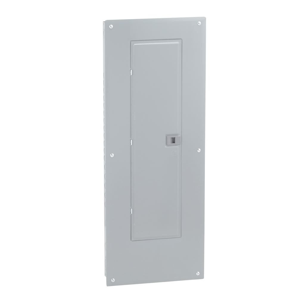 Mayer-Load center, Homeline, 1 phase, 40 spaces, 80 circuits, 225A convertible main lugs, PoN, NEMA1, gnd bar, combo cover-1