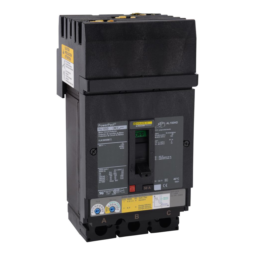 Mayer-Motor circuit protector, PowerPact H, I-Line, 50A, 3 pole,25 kA, 600 VAC-1