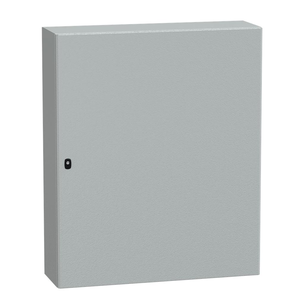 Mayer-Spacial S3D plain door with mount.plate. H1200xW1000xD300 IP66 IK10 RAL7035.-1