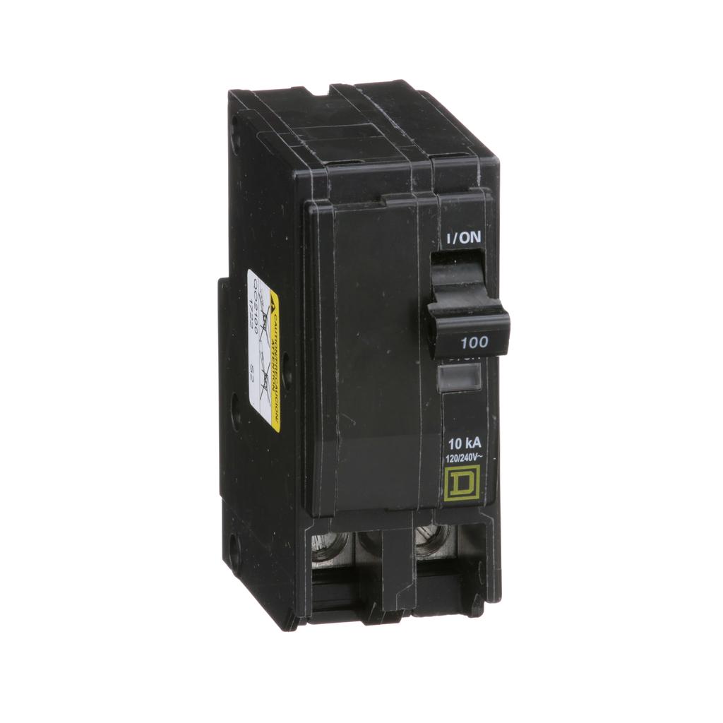 Mayer-Mini circuit breaker, QO, 100A, 2 pole, 120/240 VAC, 10 kA, plug in mount-1