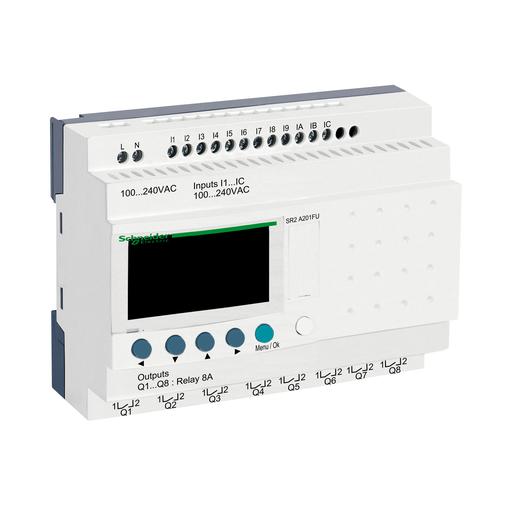 Mayer-Compact smart relay, Zelio Logic, 20 I/O, 100...240 V AC, no clock, display-1