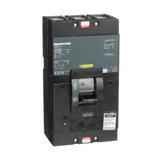 Mayer-Circuit breaker, LA, LH, Q4, unit mount, 400A, 3 pole, 22 kA, 600 VAC, 10 kA, 250 VDC, short handle-1