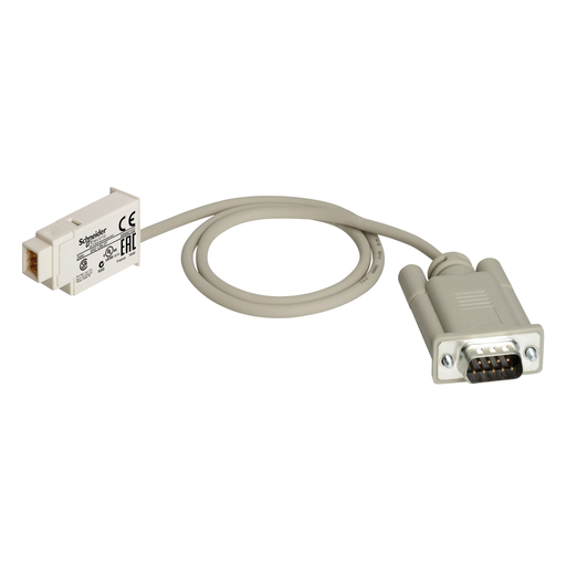 Mayer-SUB D 9 pin modem connecting cable, for smart relay Zelio Logic, 0.5 m-1