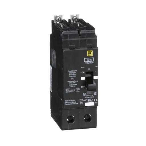 Mayer-Mini circuit breaker, E-Frame, 30A, 2 pole, 480Y/277 VAC, 65 kA max, bolt on-1