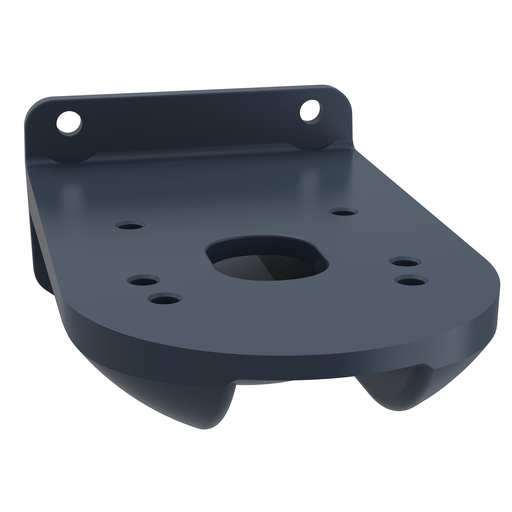 Mayer-Fixing plate for use on vertical support for modular tower lights, black, Ø60-1