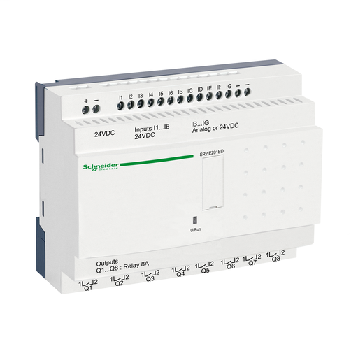 Mayer-Compact smart relay, Zelio Logic, 20 I/O, 24 V DC, clock, no display-1