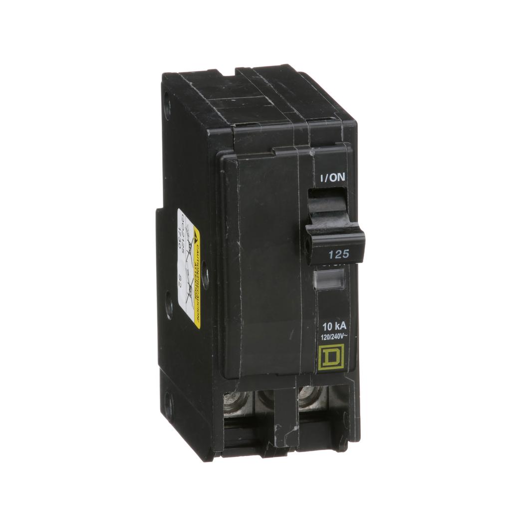 Mayer-Mini circuit breaker, QO, 125A, 2 pole, 120/240 VAC, 10 kA, plug in mount-1