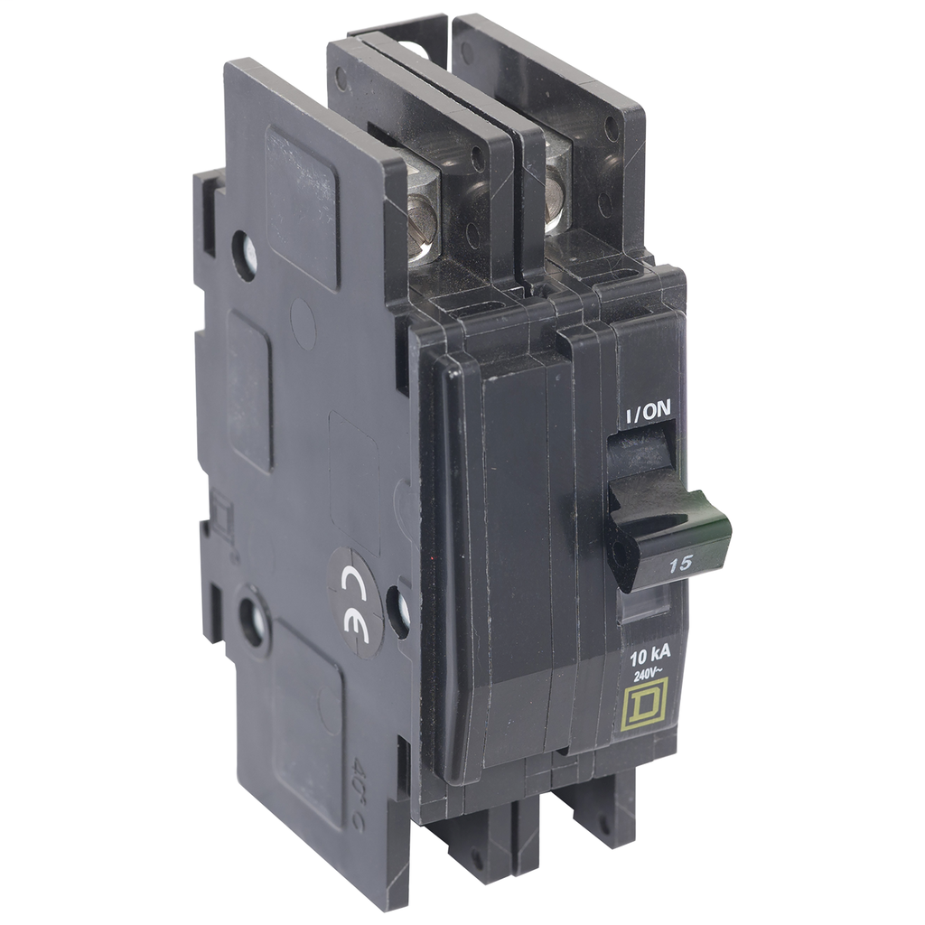Mayer-Mini circuit breaker, QOU, 10A, 2 pole, 120/240 VAC, 10kA, bulk pack-1