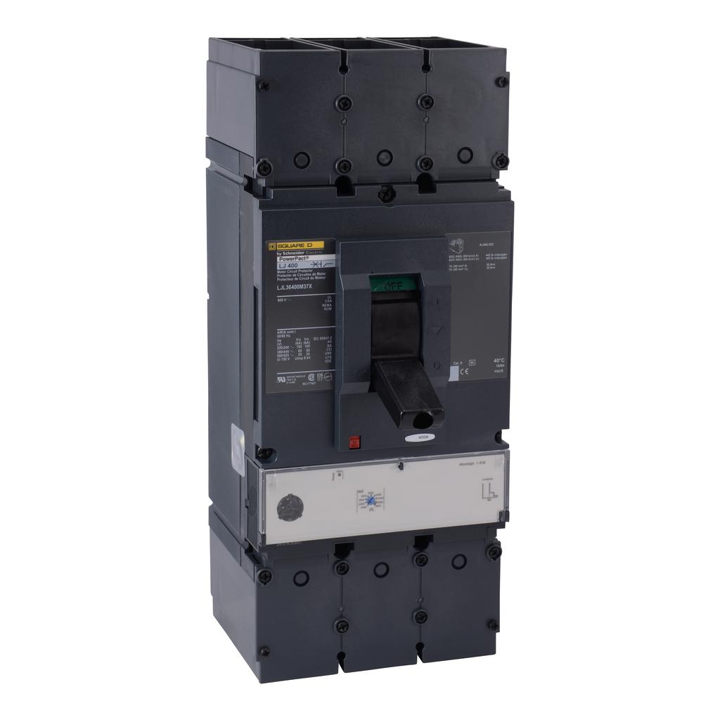 Mayer-Motor curcuit protector, PowerPact L, 400A, 3 pole, 25 kA, 600 VAC, magnetic trip unit-1