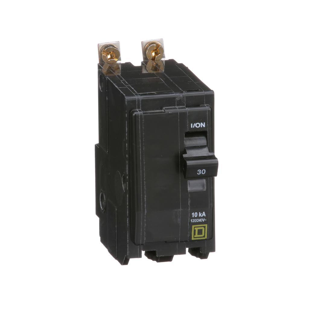 Mayer-Mini circuit breaker, QO, 30A, 2 pole, 120/240 VAC, 10 kA, bolt on mount-1