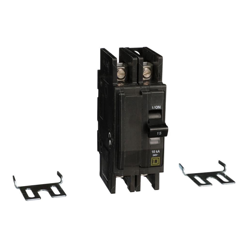 Mayer-Mini circuit breaker, QOU, 15A, 2 pole, 240 VAC, 10kA-1