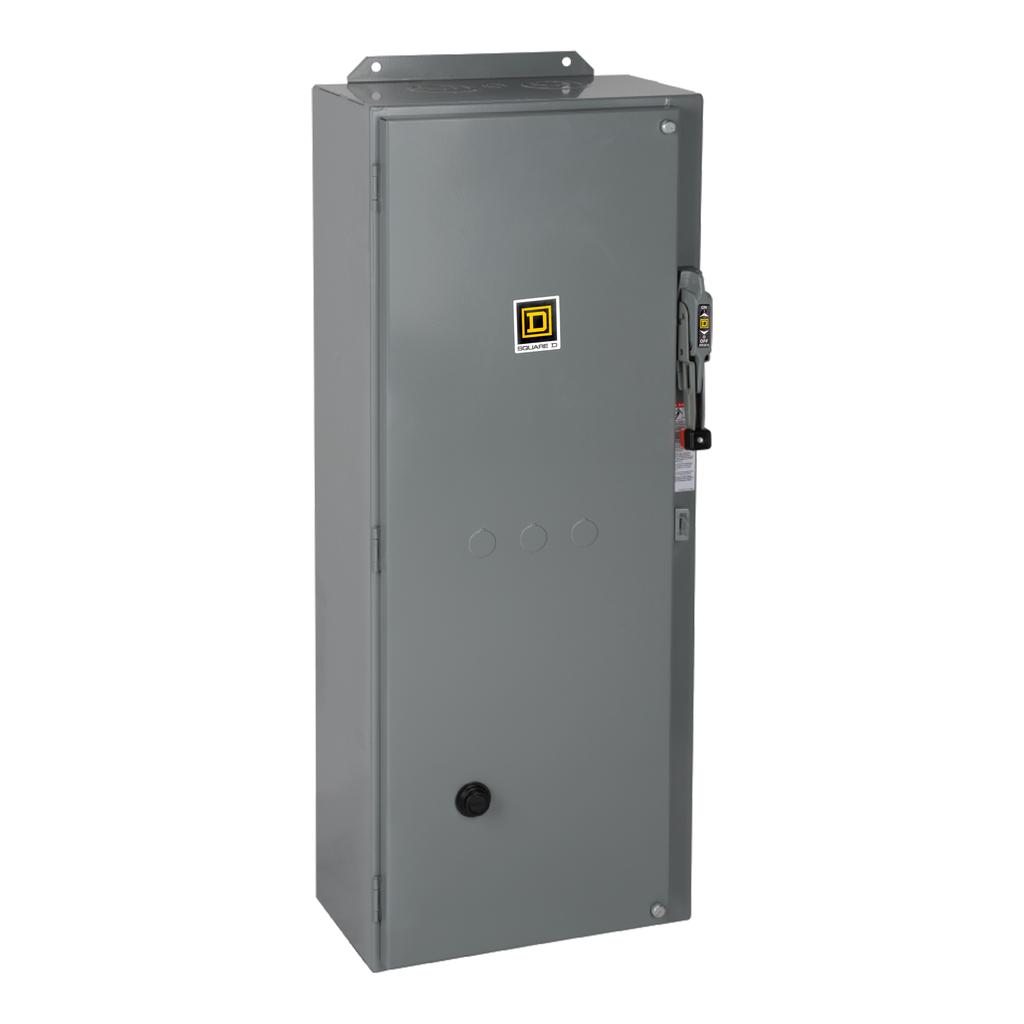 Mayer-NEMA Combination Starter, Type S, HHL electronic motor circuit protector, Size 3, 90A, 3 phase, 120 VAC coil, NEMA 1-1