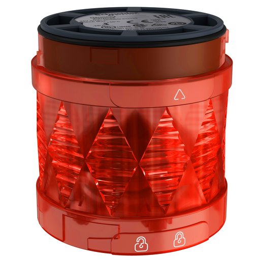 Harmony XVU, Illuminated LED unit for modular tower lights, red, Ø60, steady, IP65, 24 V AC/DC