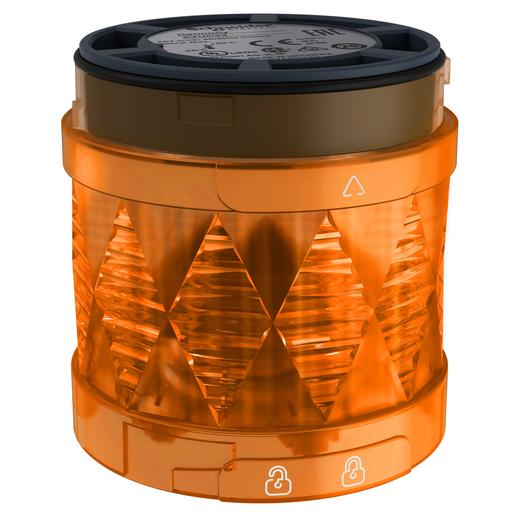 Harmony XVU, Illuminated LED unit for modular tower lights, orange, Ø60, steady, IP65, 24 V AC/DC