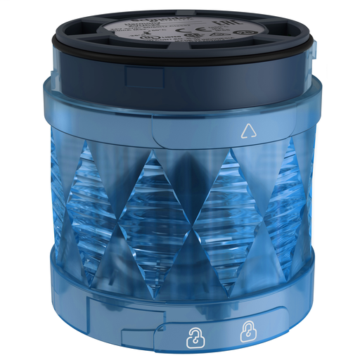 Harmony XVU, Illuminated LED unit for modular tower lights, blue, Ø60, steady, IP65, 24 V AC/DC