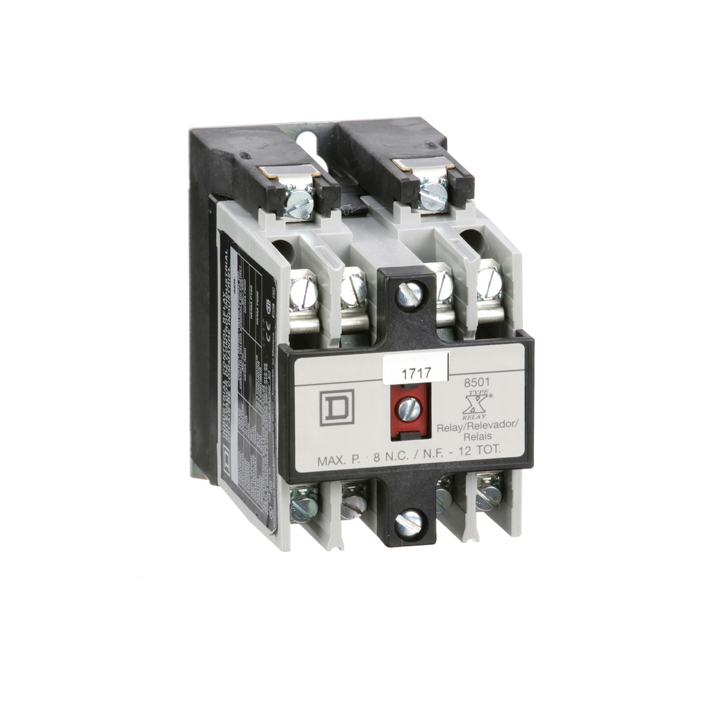 Mayer-NEMA Control Relay, Type X, machine tool, 10A resistive at 600 VAC, 2 normally open contacts, 220/240 VAC 50/60 Hz coil-1