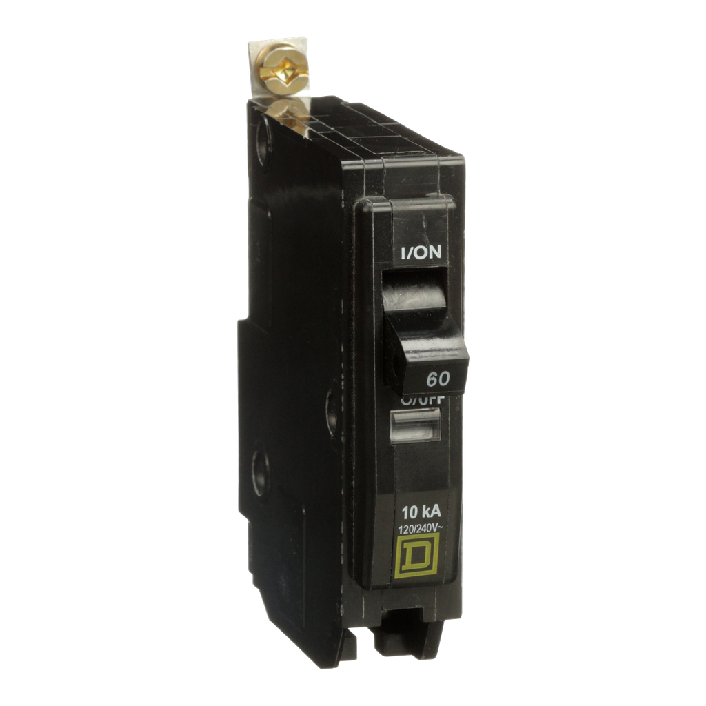 Mayer-Mini circuit breaker, QO, 60A, 1 pole, 120/240 VAC, 10 kA, bolt on mount-1