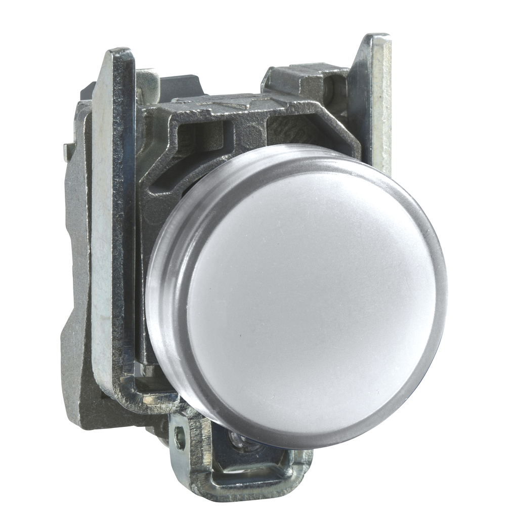 Mayer-Harmony XB4, Pilot light, metal, white, Ø22, plain lens with integral LED, 230...240 VAC-1
