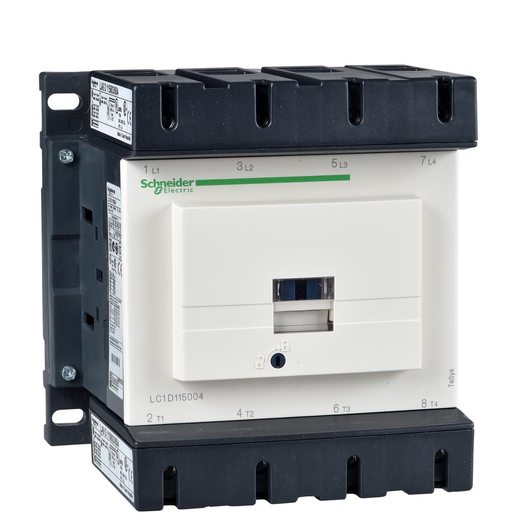Mayer-IEC contactor, TeSys D, nonreversing, 200A resistive, 4 pole, 4 NO, 230VAC 50/60Hz coil, open style-1