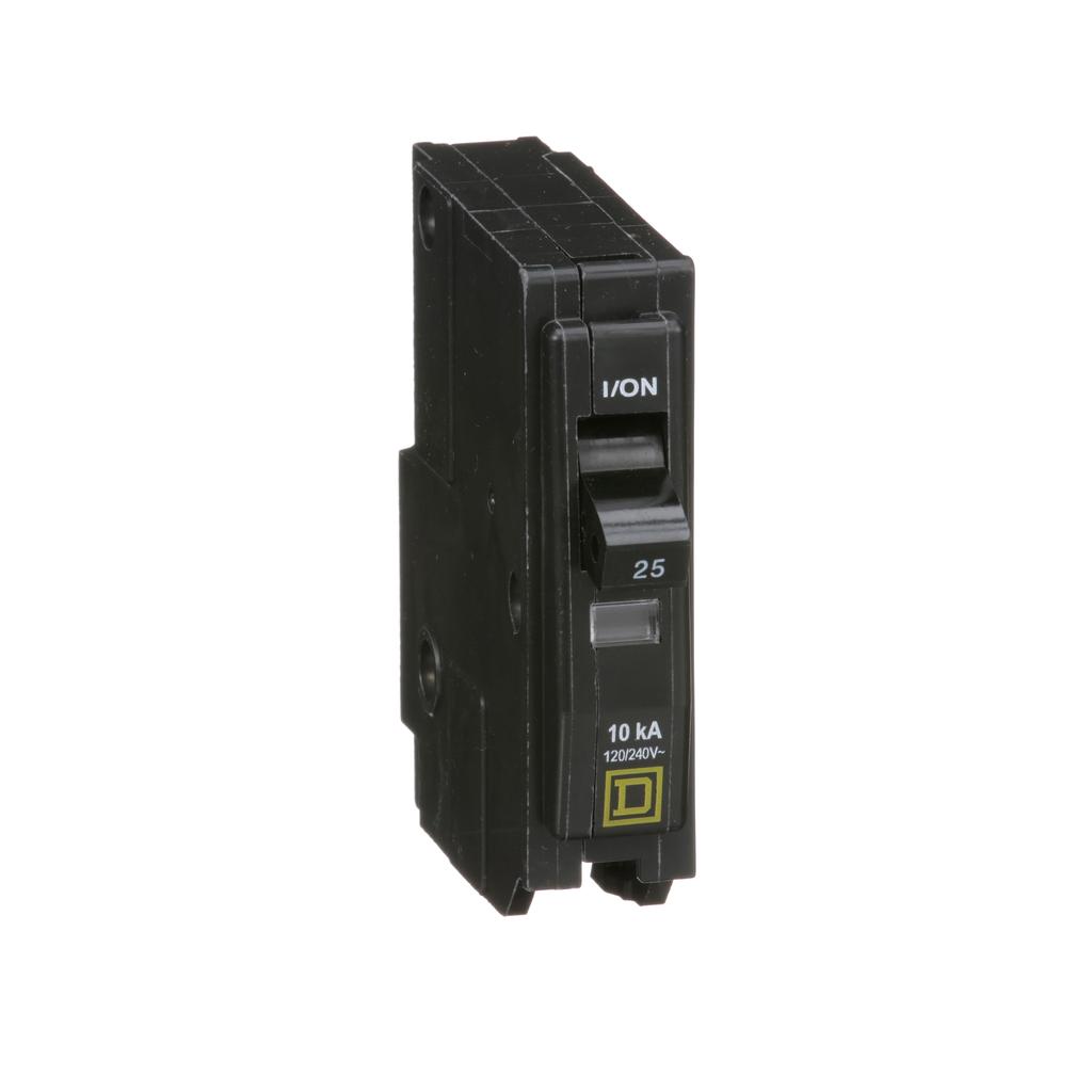 Mayer-Mini circuit breaker, QO, 25A, 1 pole, 120/240 VAC, 10 kA, plug in mount-1