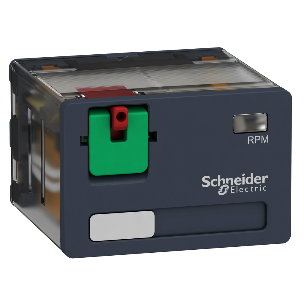 Mayer-Harmony, Power plug-in relay, 15 A, 4 CO, with lockable test button, 48 V AC-1