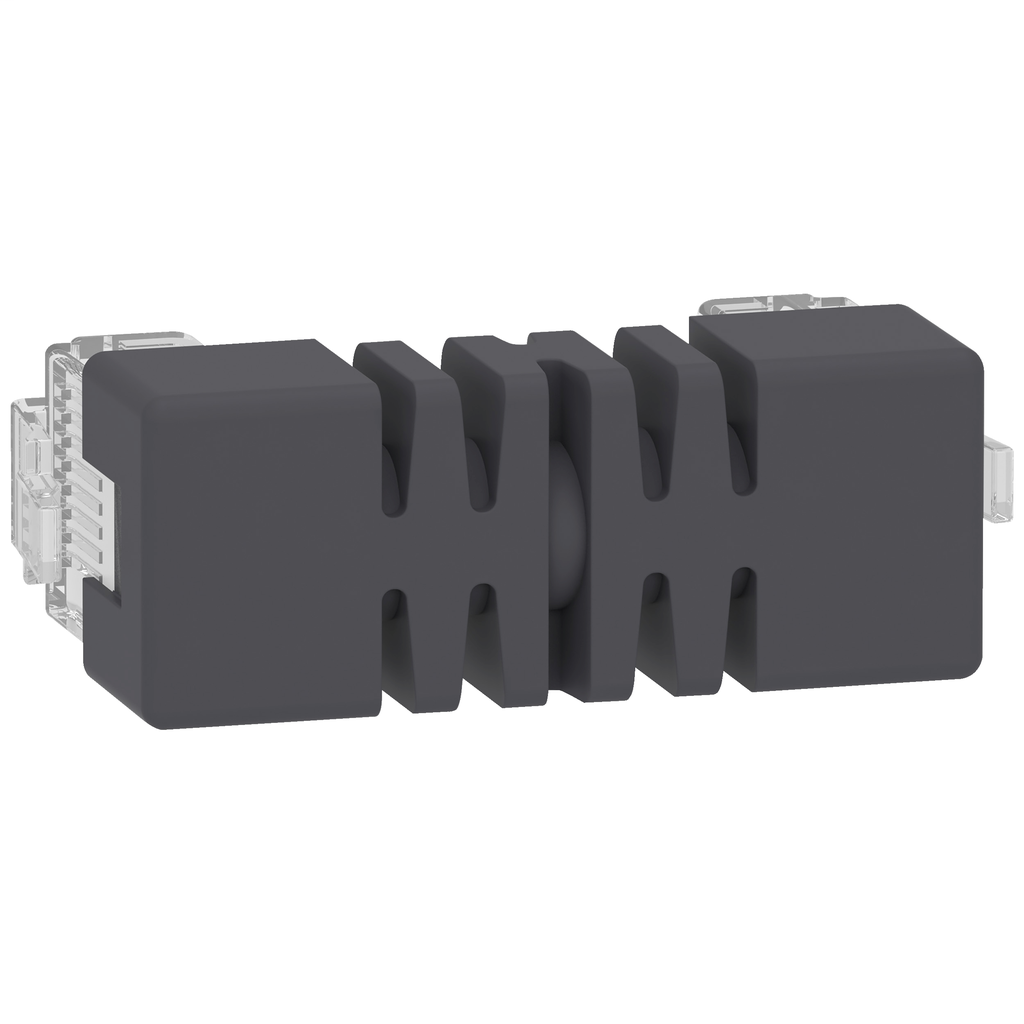 Mayer-Jumper for side by side mounting TeSys T - 2 x RJ45 - 0.04 m-1