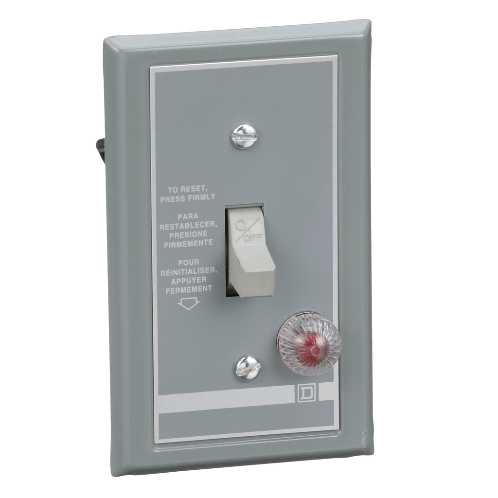 Mayer-FHP Manual Starter - Flush Mount - 1P - Toggle Operated - Grn Indicator - 277VAC-1