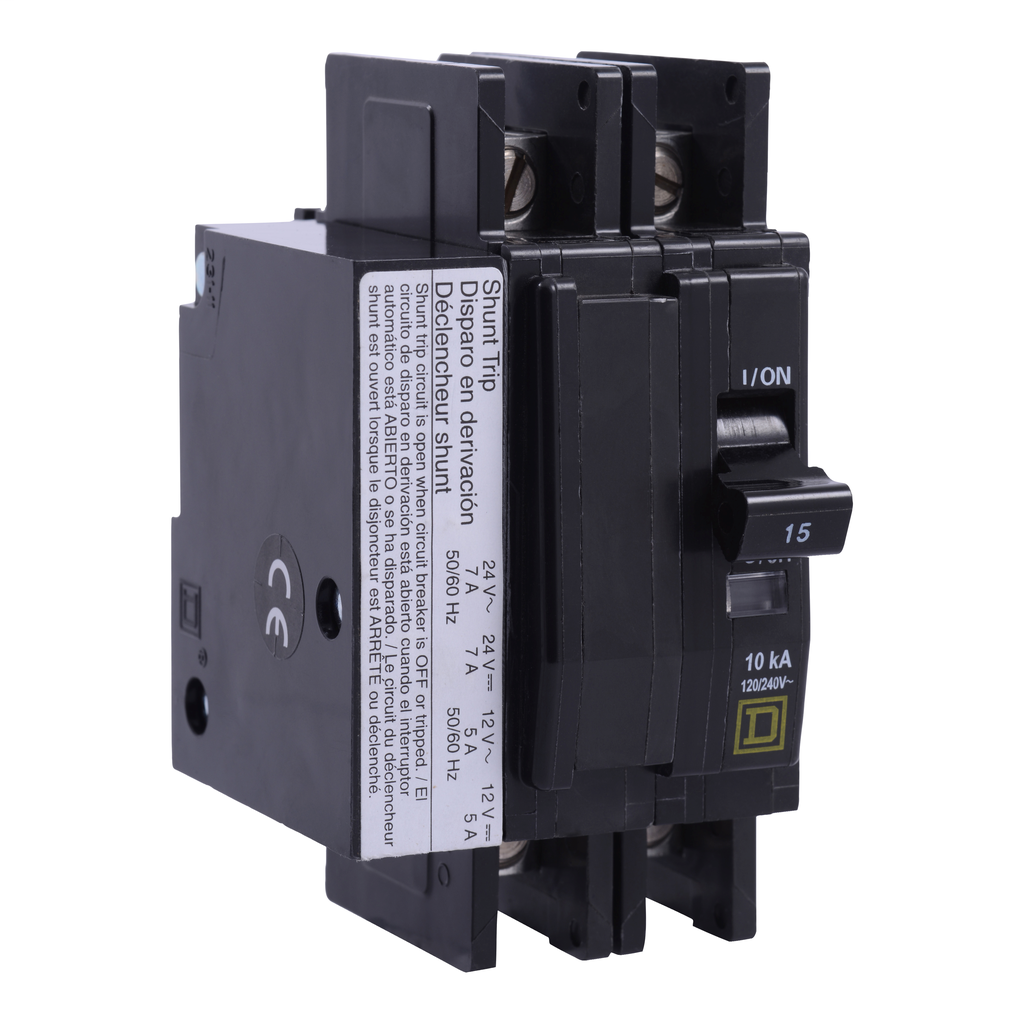 Mayer-Mini circuit breaker, QOU, 40A, 2 pole, 120/240 VAC, 10kA, shunt trip-1