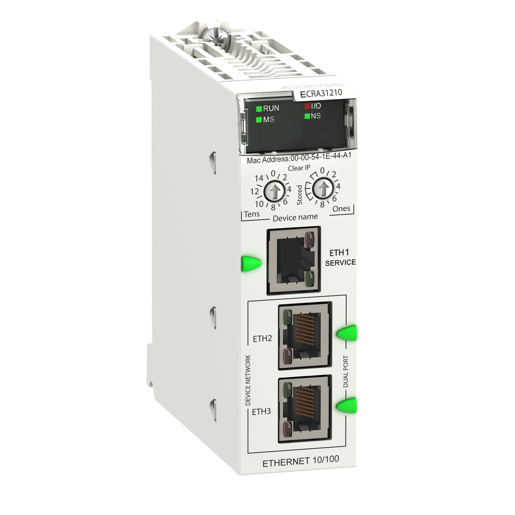 Mayer-Modicon X80 EIO Drop adapter with Ethernet backplane - coated-1
