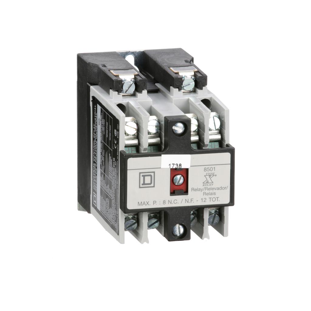 Mayer-NEMA Control Relay, Type X, machine tool, 10A resistive at 600 VAC, 2 NO and 2 NC contacts, 110/120 VAC 50/60 Hz coil-1