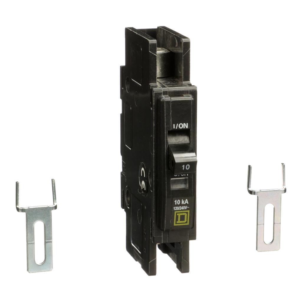 Mayer-Mini circuit breaker, QOU, 10A, 1 pole, 120/240 VAC, 10kA, field reversible lugs-1