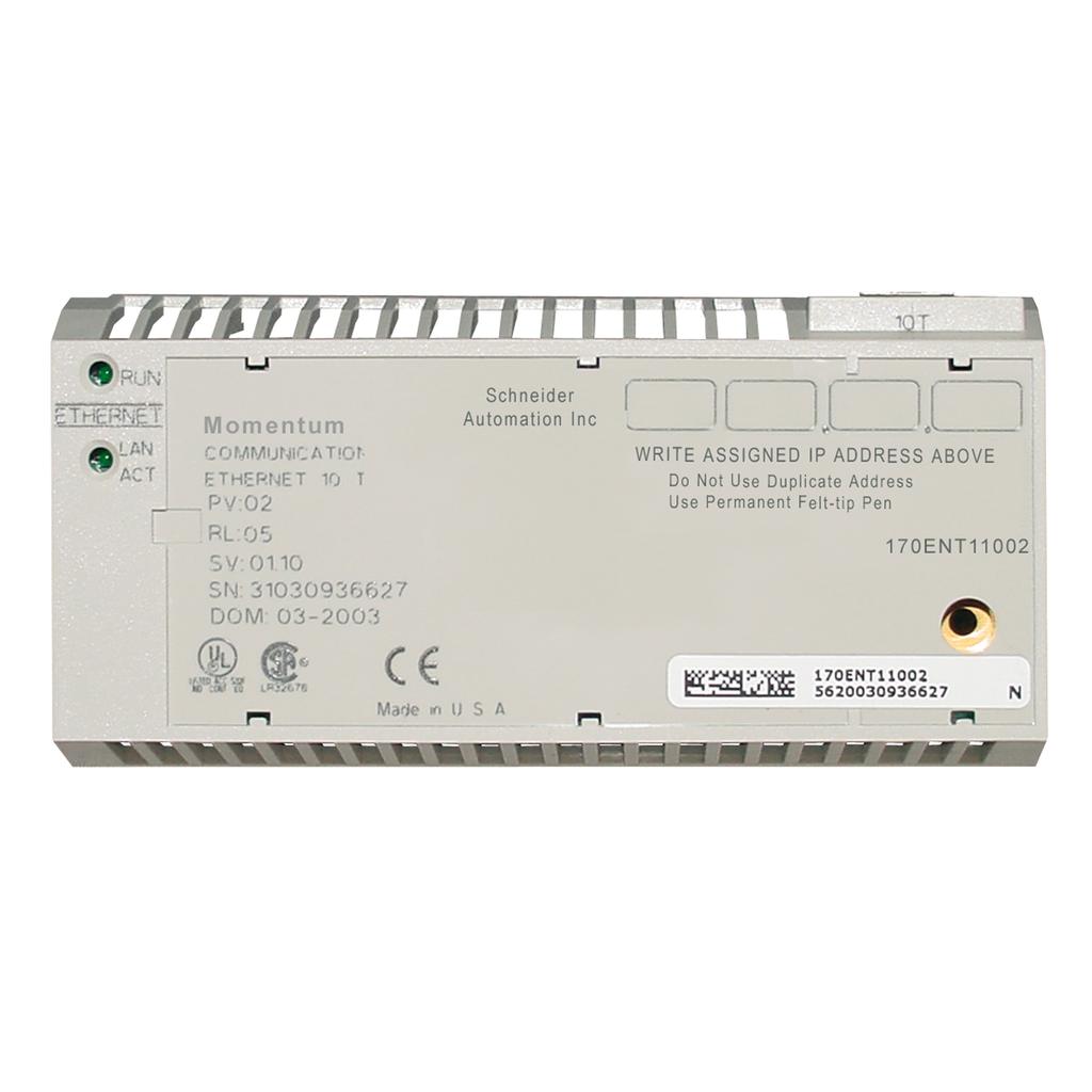 Mayer-Modicon Momentum - Conformal coating - Ethernet communication adaptor -10Mbit/s-1