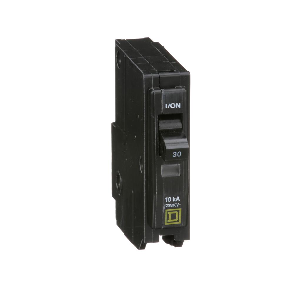 Mayer-Mini circuit breaker, QO, 30A, 1 pole, 120/240 VAC, 10 kA, plug in mount-1