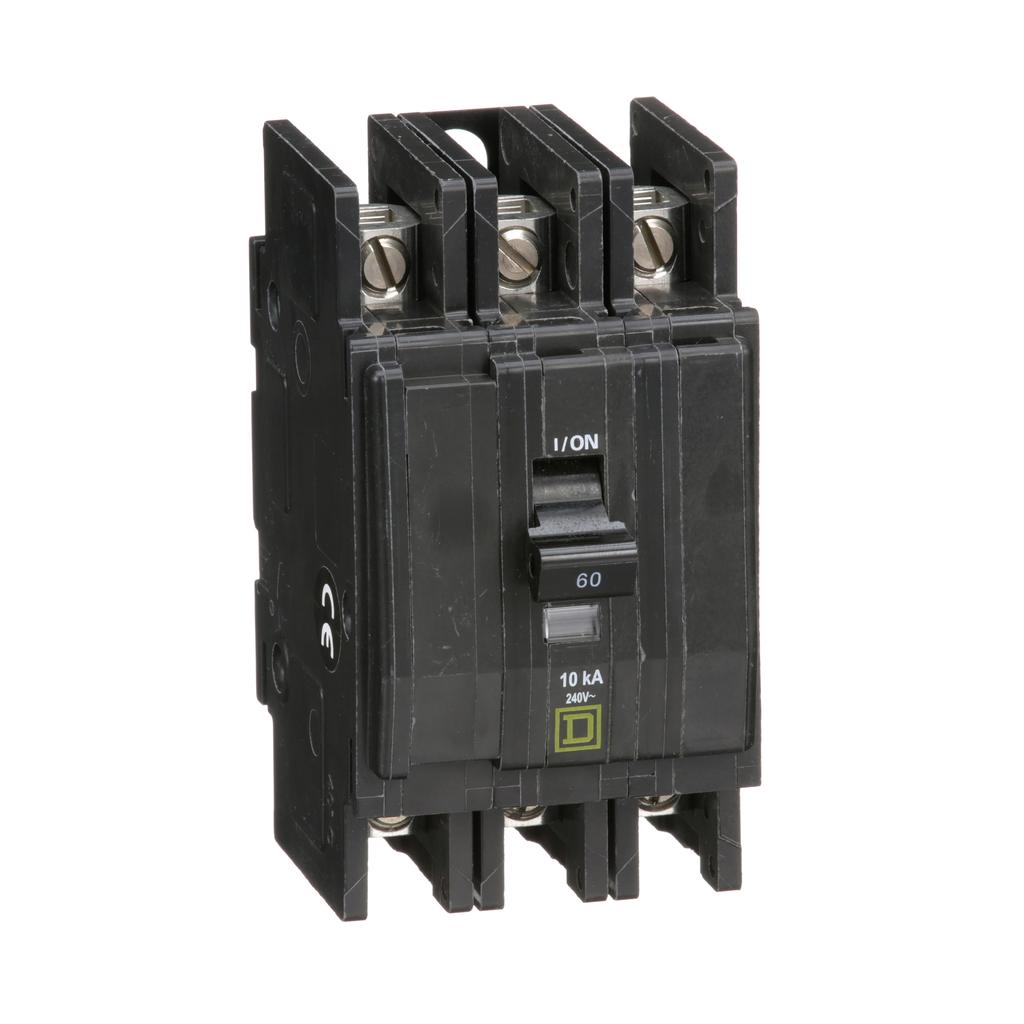Mayer-Mini circuit breaker, QOU, 60A, 3 pole, 240VAC, 10kA-1