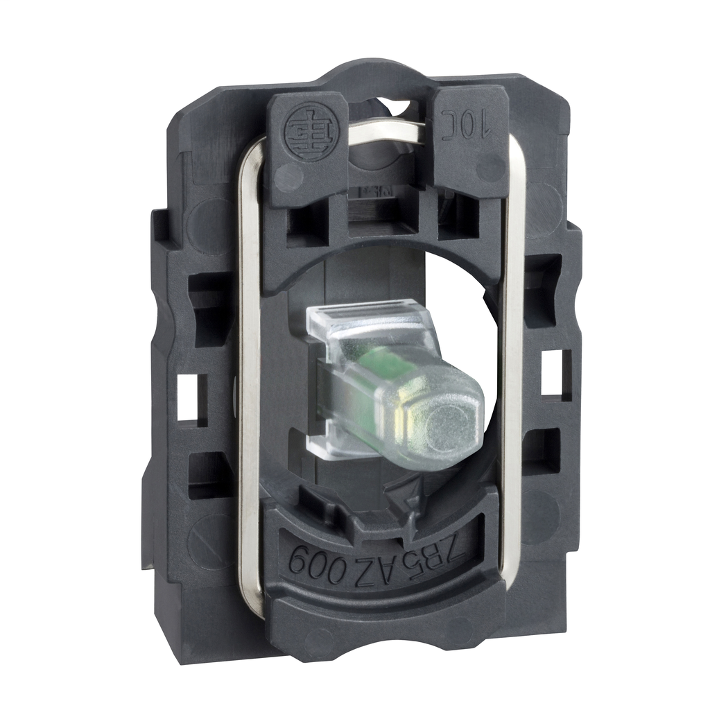 Mayer-Harmony XB5, Light block with body/fixing collar, plastic, red, integral LED, 24 V AC/DC-1