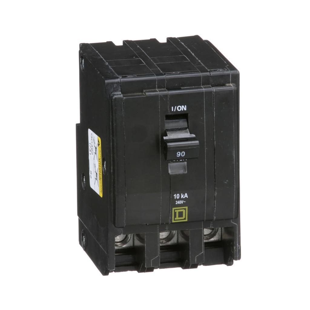 Mayer-Mini circuit breaker, QO, 90A, 3 pole, 120/240 VAC, 10 kA, plug in mount-1