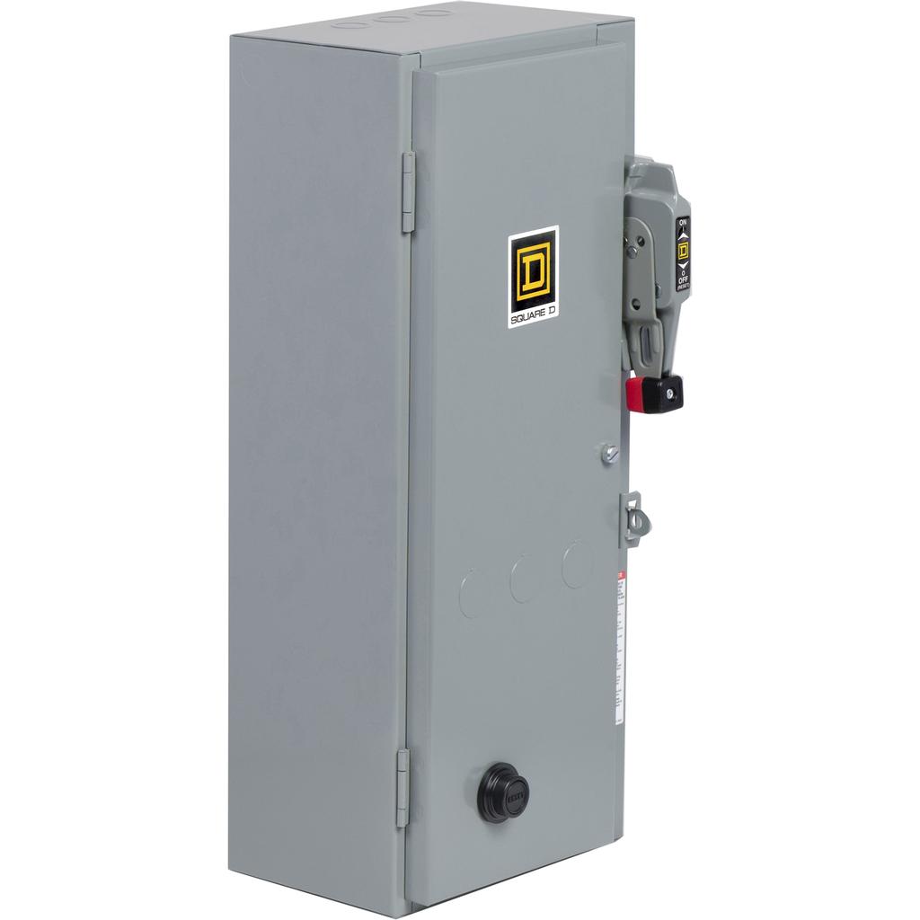 Mayer-NEMA Combination Starter, Type S, HHL electronic motor circuit protector, Size 1, 27A, 3 phase, 120 VAC coil, NEMA 1-1