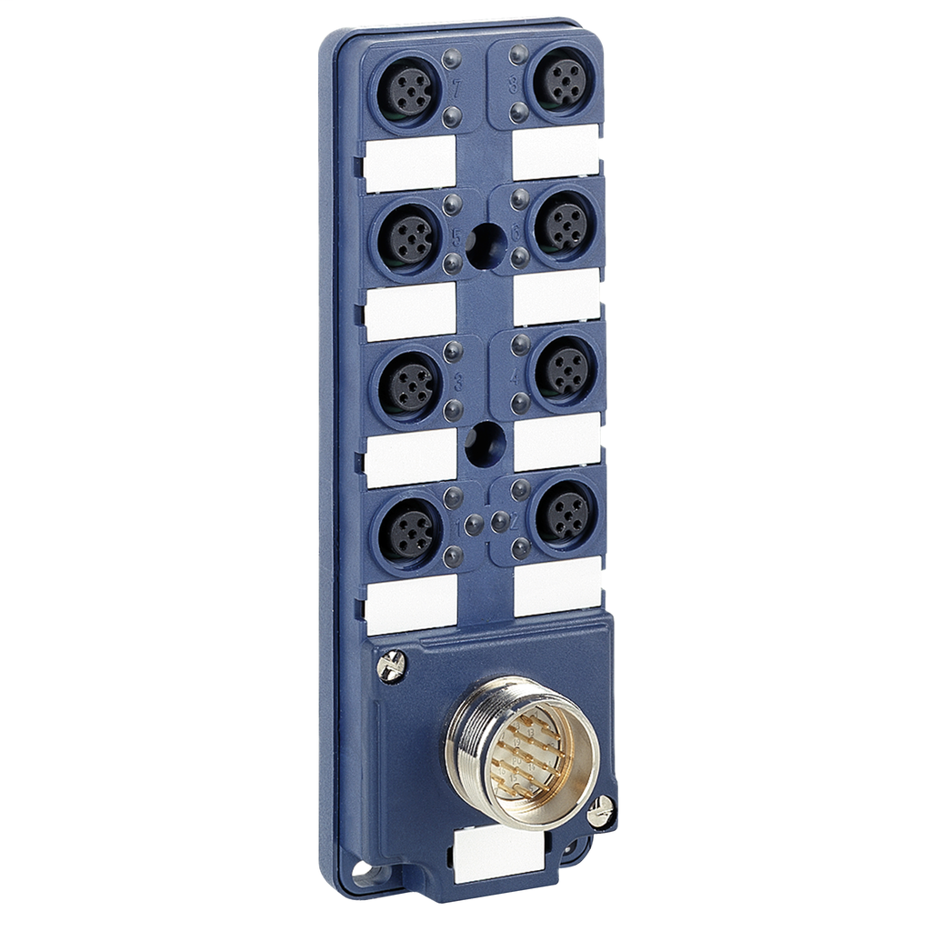 Mayer-IP67 passive splitter box - M23 connector - with 8 channels M12 connector-1
