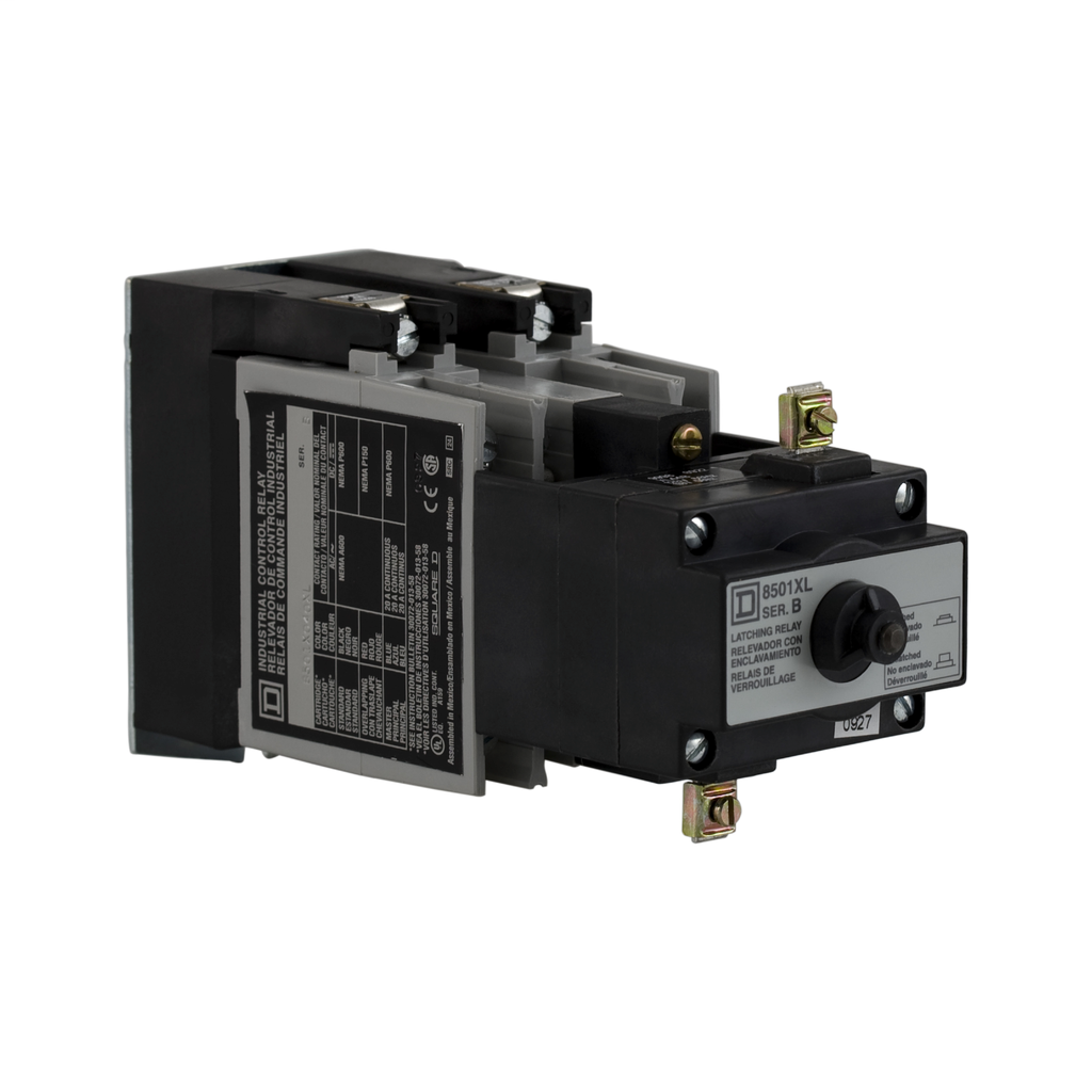 Mayer-NEMA Control Relay, Type X, latching, 10A resistive at 600 VAC, 4 normally open contacts, 110/120 VAC 50/60 Hz coil-1