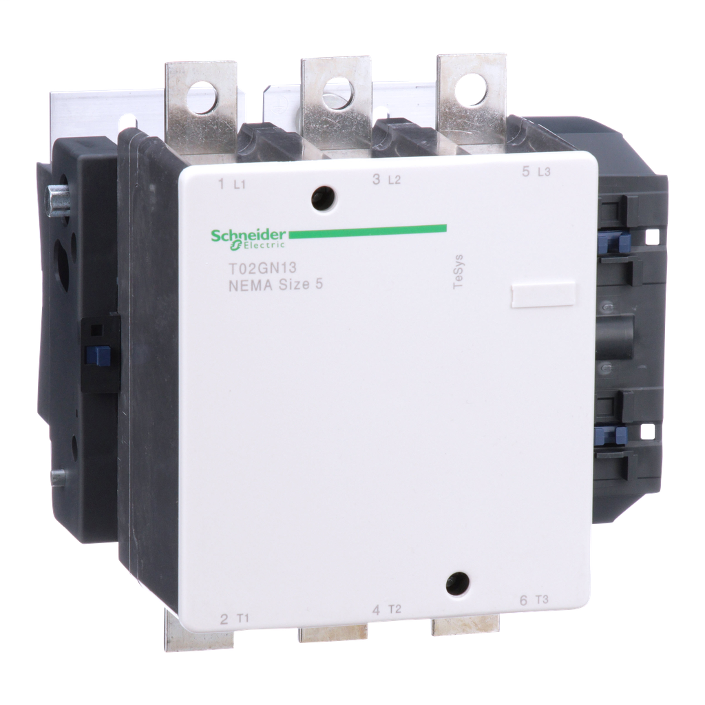 Mayer-NEMA Contactor, TeSys N, nonreversing, Size 5, 270A, 200HP at 460VAC, 3 pole, 3 phase, 120VAC 50/60Hz coil, open-1