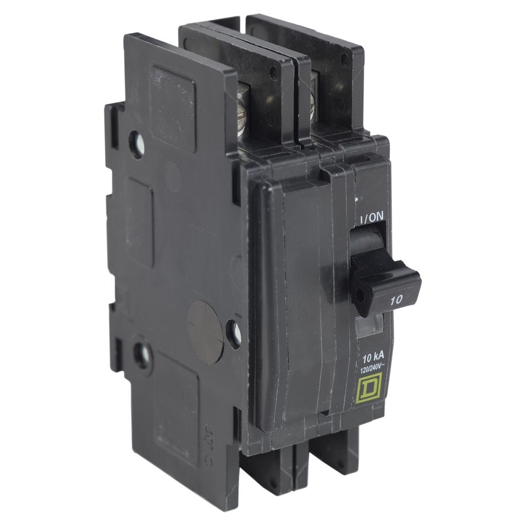 Mayer-Mini circuit breaker, QOU, 35A, 2 pole, 120/240 VAC, 10kA, mounting foot-1