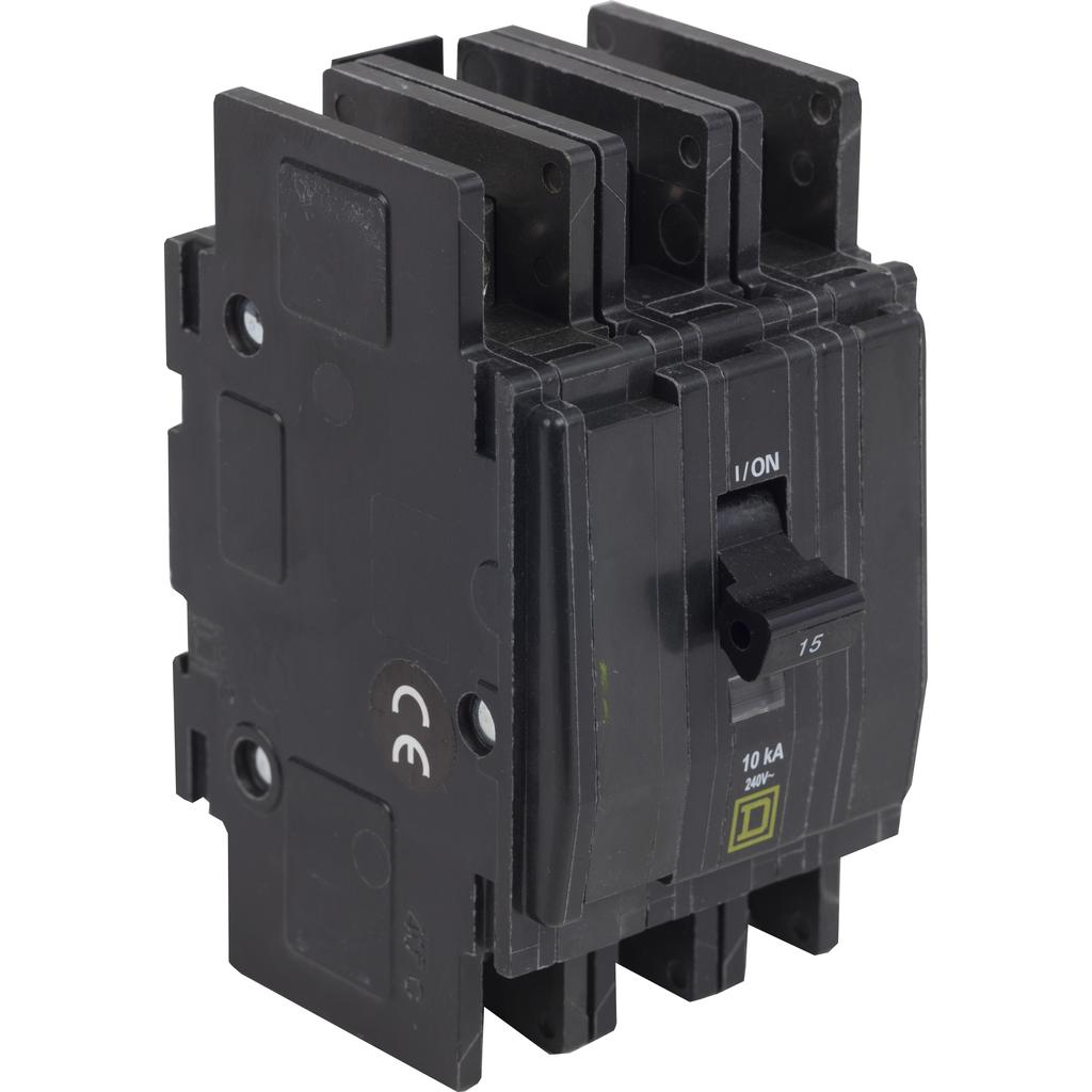Mayer-Mini circuit breaker, QOU, 45A, 3 pole, 240 VAC, 10kA, bulk pack-1