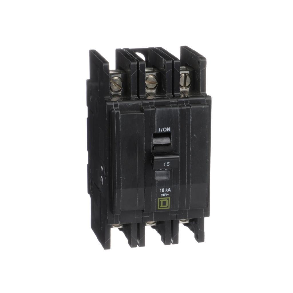Mayer-Mini circuit breaker, QOU, 15A, 3 pole, 240 VAC, 10kA, bulk pack-1