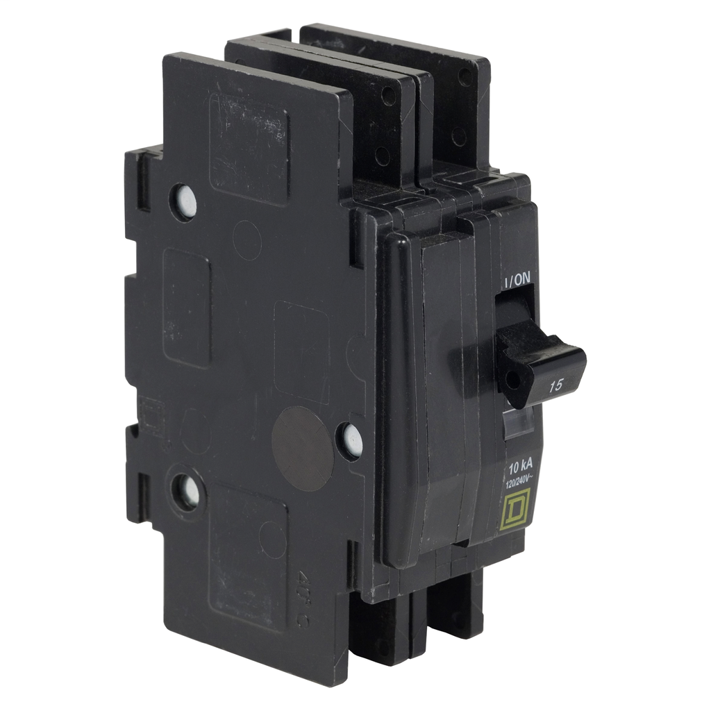 Mayer-Mini circuit breaker, QOU, 60A, 2 pole, 120/240 VAC, 10kA, ring terminal-1