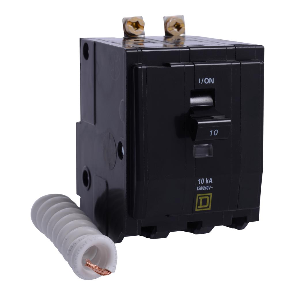 Mayer-Mini circuit breaker, QO, 30A, 3 pole, 120/240 VAC, 10 kA, switch neutral, bolt on mount-1