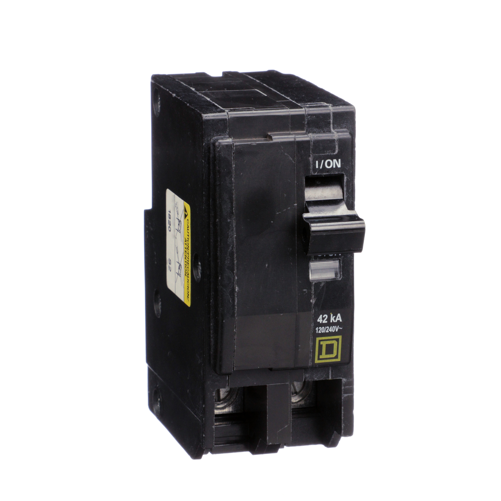 Mayer-Mini circuit breaker, QO, 80A, 2 pole, 120/240VAC, 42kA, plug in mount-1