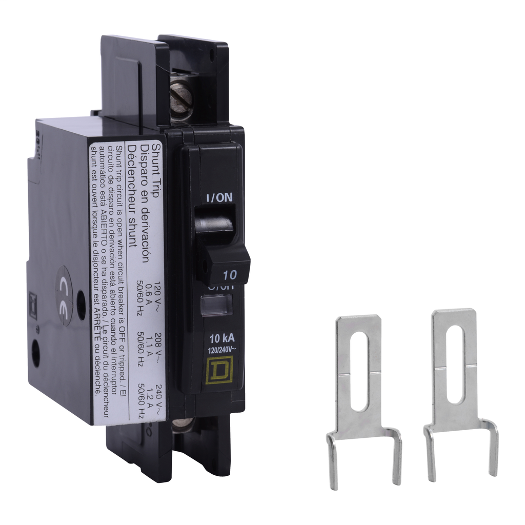 Mayer-Mini circuit breaker, QOU, 20A, 1 pole, 120/240 VAC, 10kA, shunt trip-1
