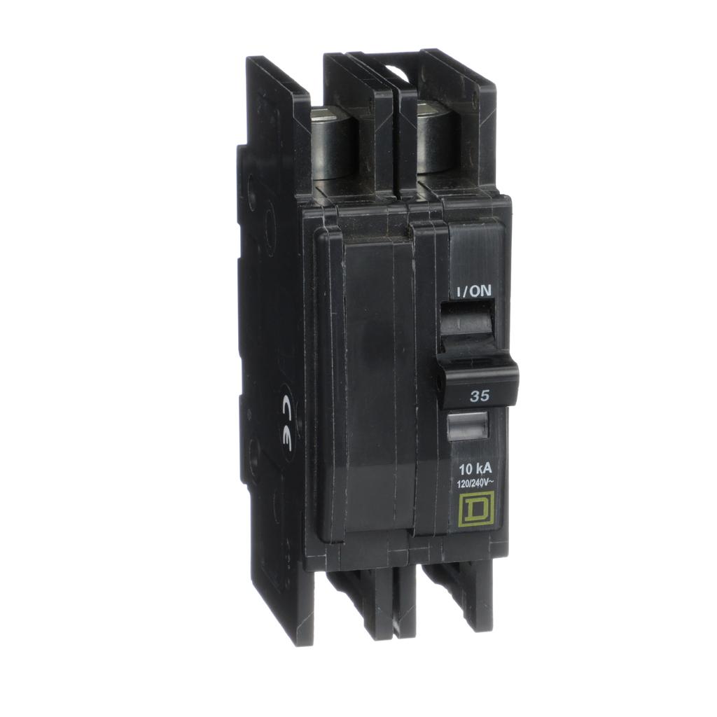 Mayer-Mini circuit breaker, QOU, 35A, 2 pole, 120/240 VAC, 10kA, field reversible lugs-1