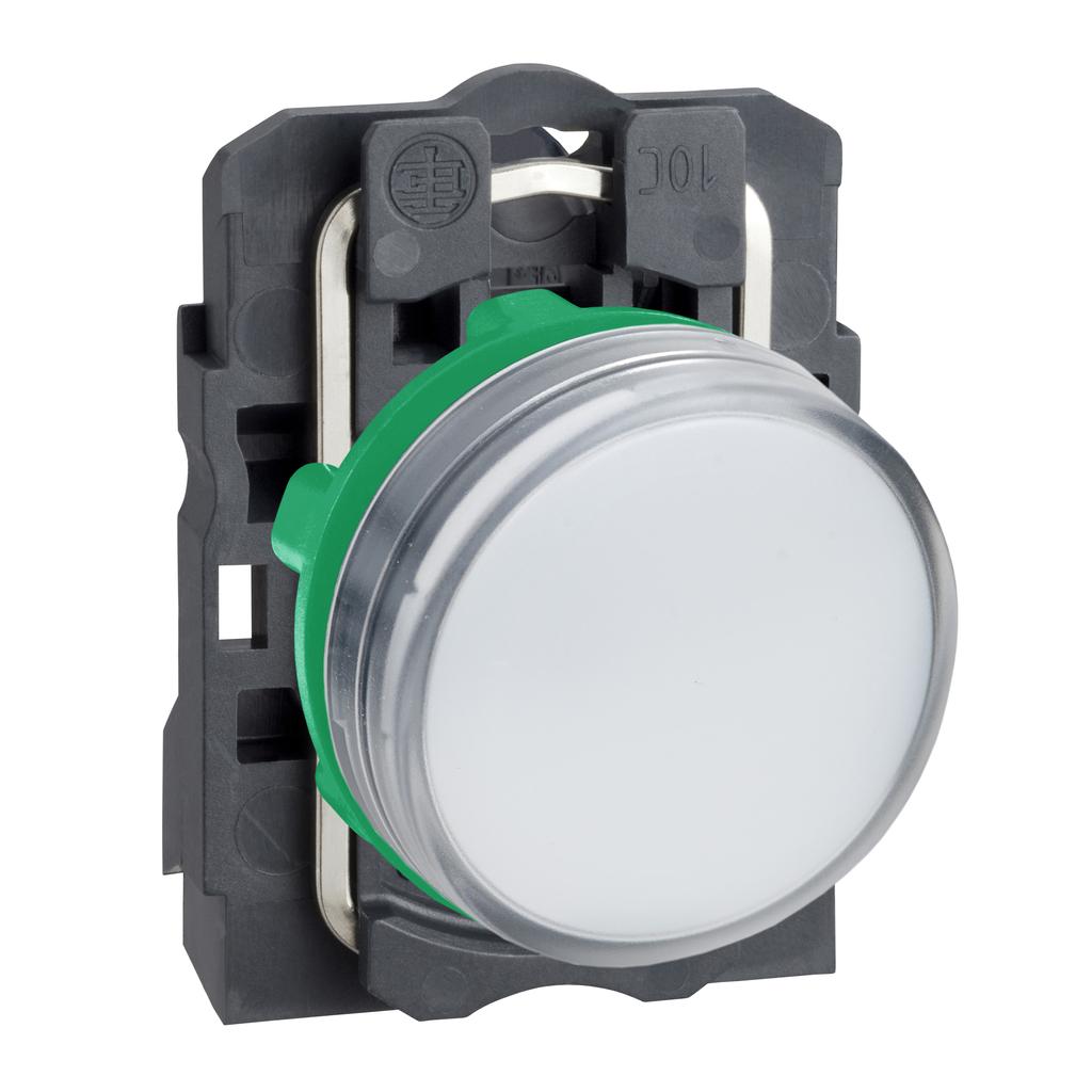 Mayer-Harmony XB5, Pilot light, plastic, white, Ø22, plain lens with integral LED, 24 V AC/DC-1